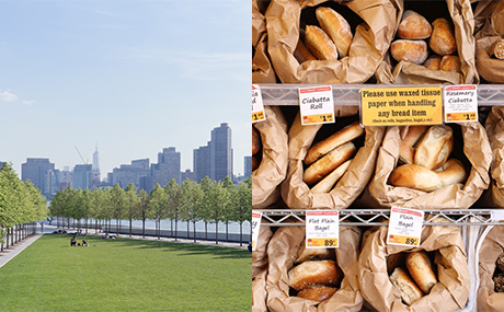 Four Freedoms Park and Gourmet Garage