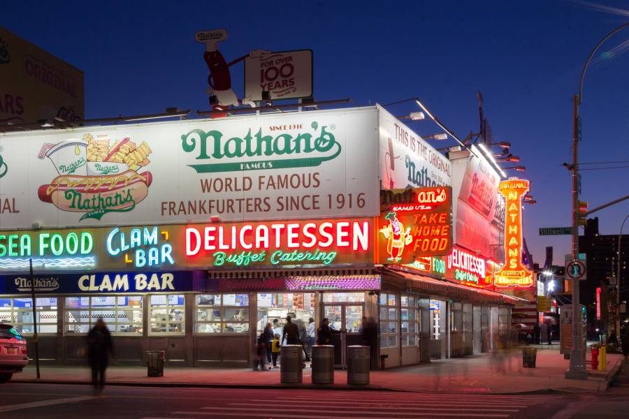 Iconic Neon Signs In New York City