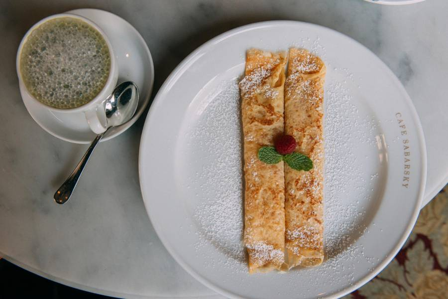 Cafe Sabarsky, crepe, coffee