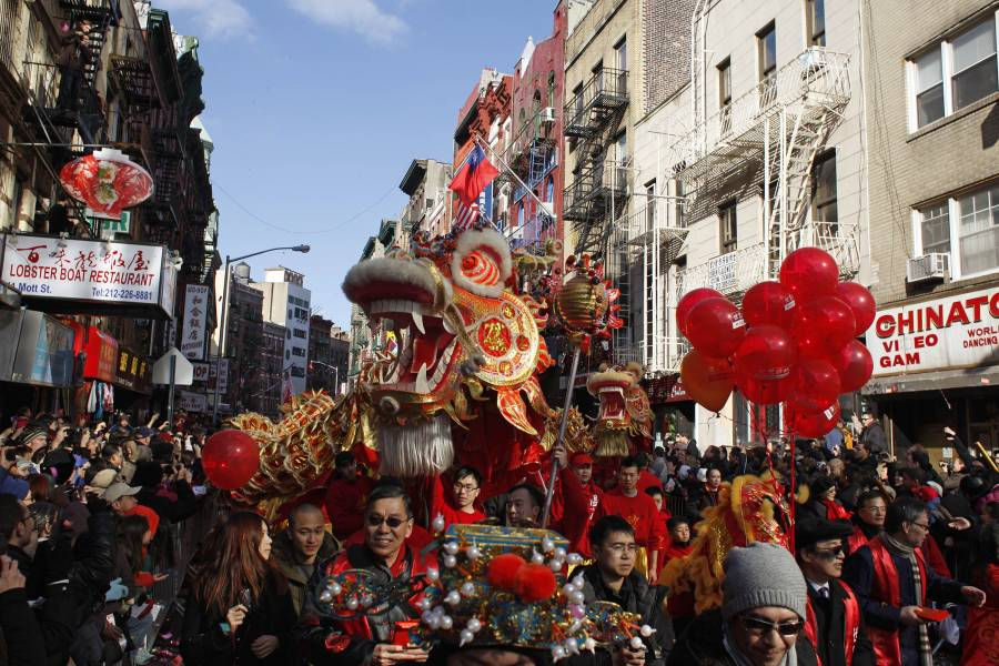 Lunar New Year In Nyc Parades Firecracker Ceremony Chinatown