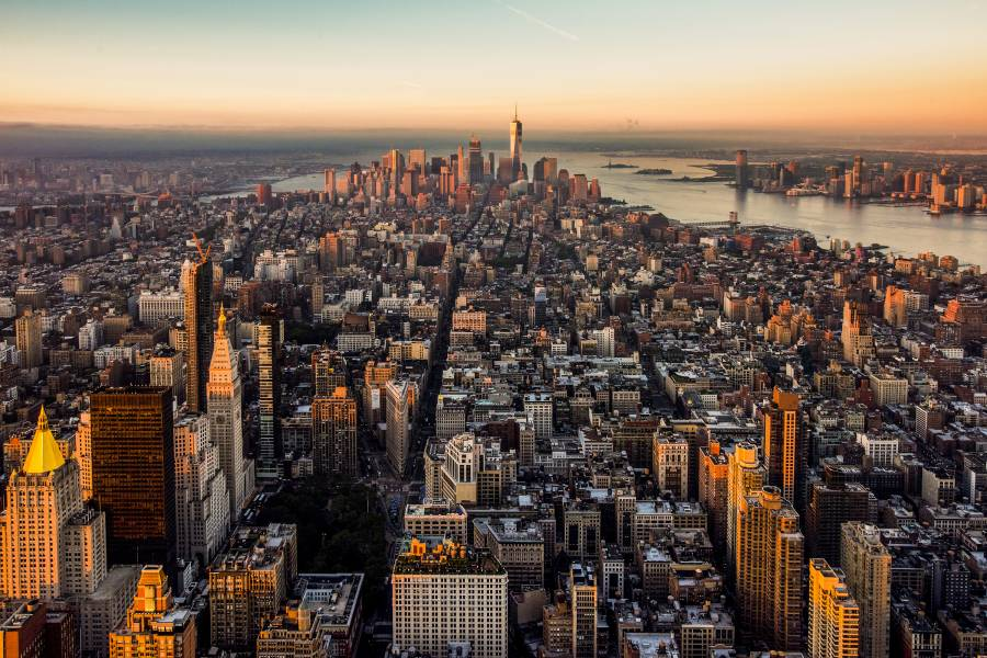 Empire State Building Observatory, Empire State Building, View of NYC, View of New York City, Aerial View of NYC
