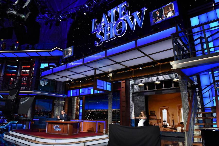 Late Show with stephen colbert, set