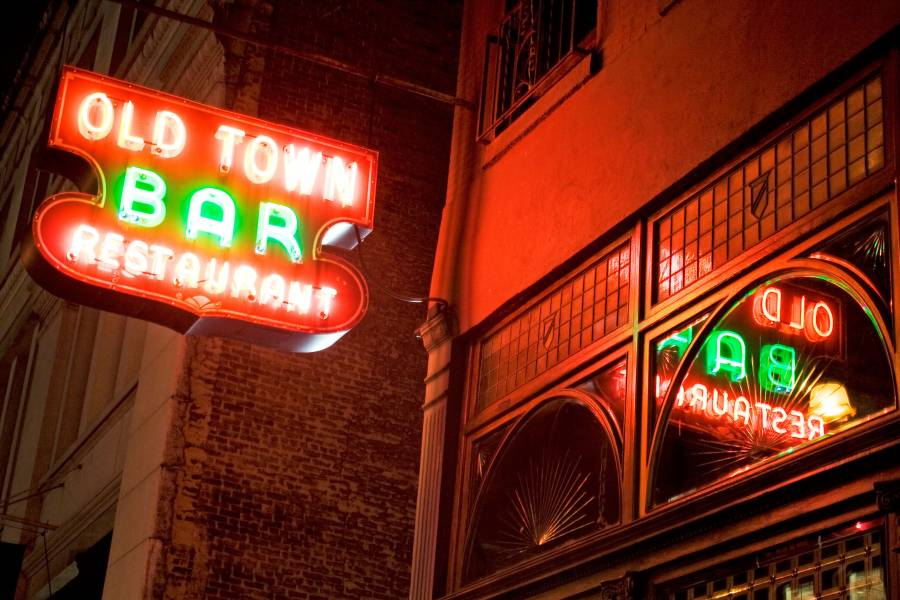 Old Town Bar sign