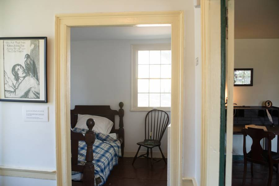 Poe Cottage interior