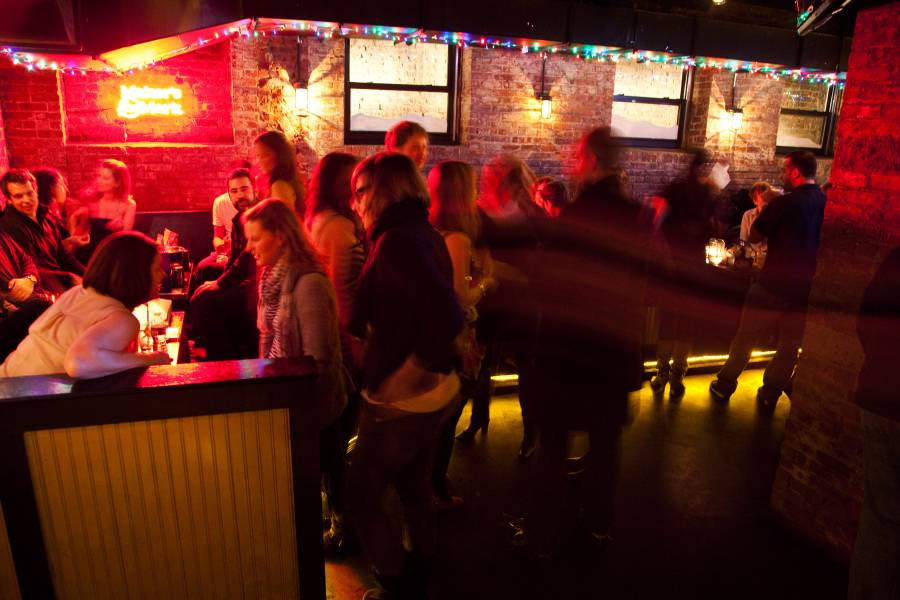 The Whiskey Brooklyn is a bar in Williamsburg that has live music, dancing, shuffle board