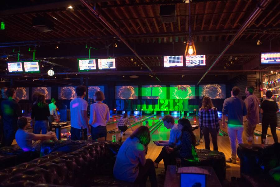 Bowling, live bands, electronic music, dancing and dining, all take place at Brooklyn Bowl in Williamsburg