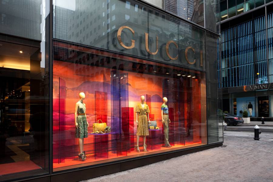 13d9c53a9 Photo: Will Steacy. Gucci 725 Fifth Ave. ...