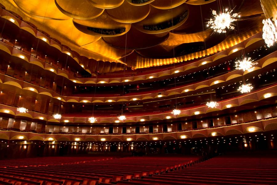 The auditorium of the Metropolitan Opera House. Met Opera House, Auditorium, Met Opera House of New York City,
