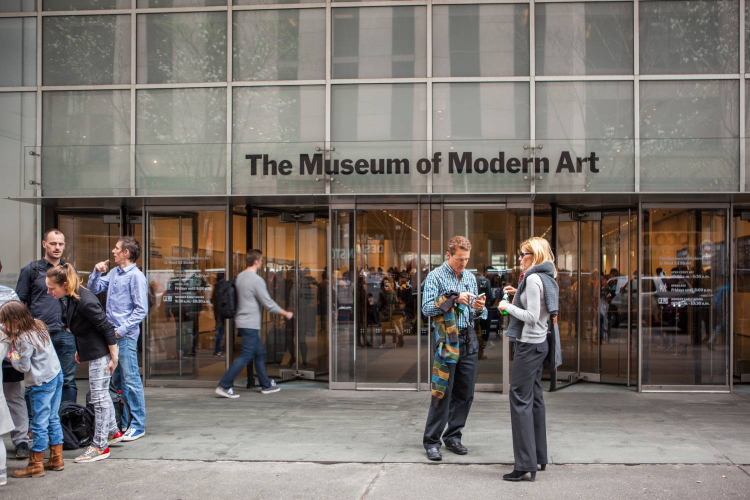 museum of mordern art in new york city during christmas time