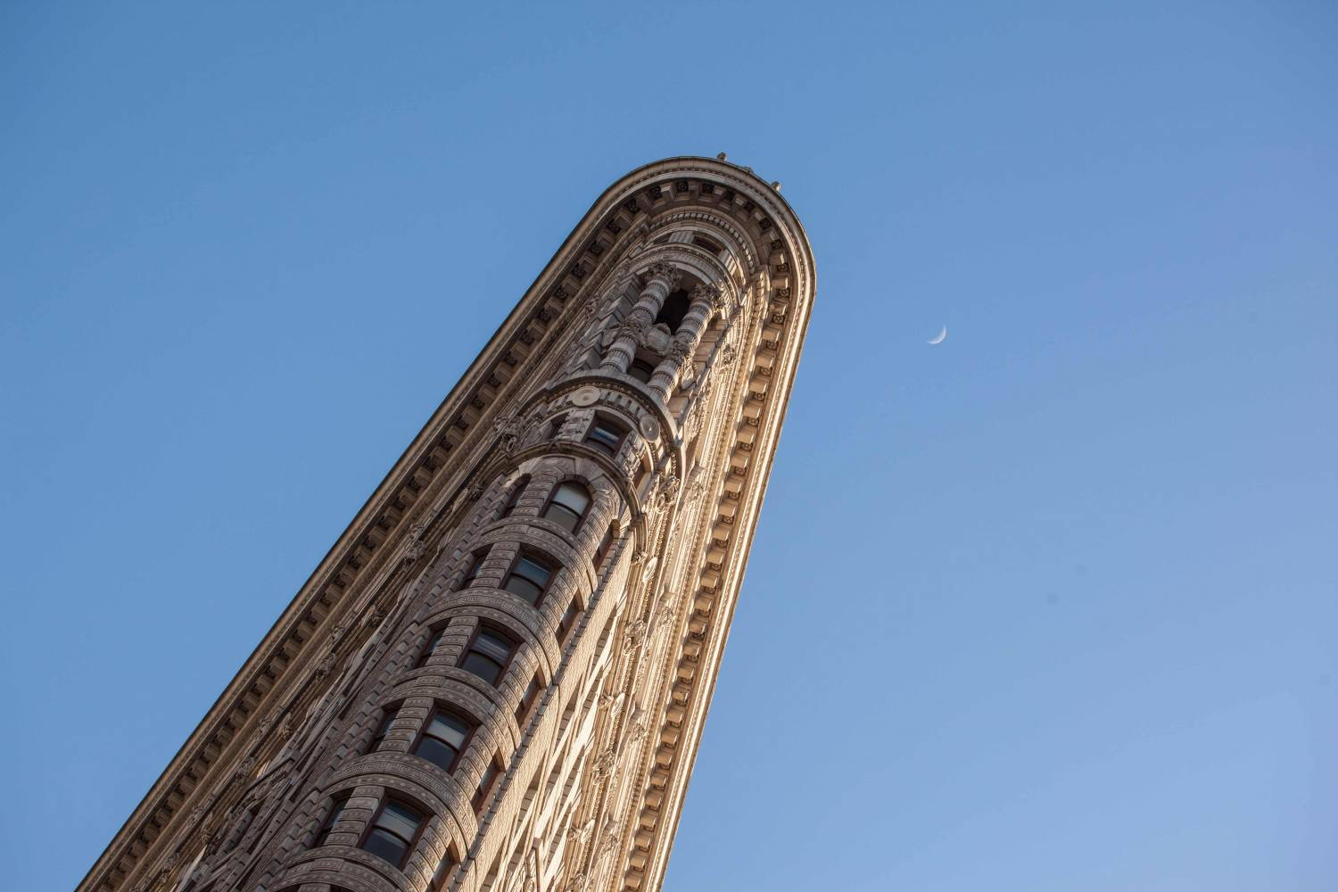Detail of the Flatiron Building in Manhattan