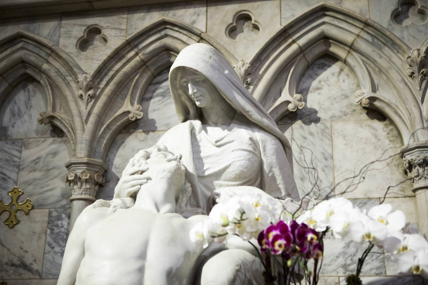 Sculpture at St. Patrick's Cathedral in Midtown Manhattan