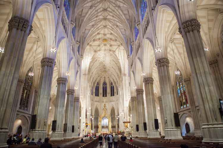 Interior at St. Patrick's Cathedral in Midtown Manhattan