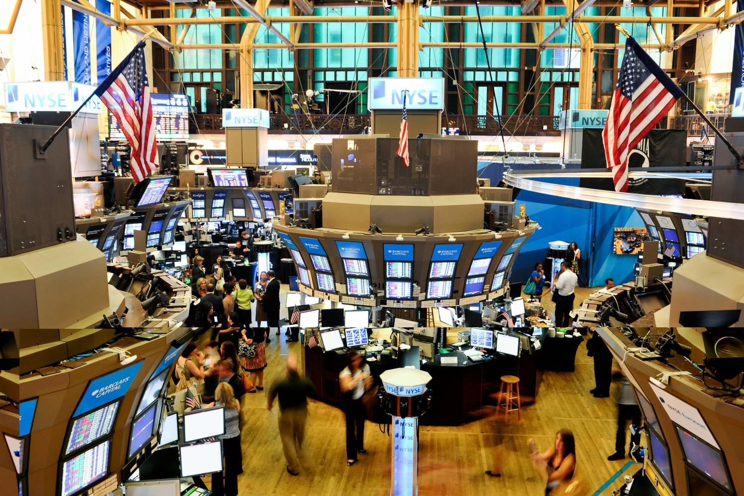 Inside the trading floor of the New York Stock Exchange