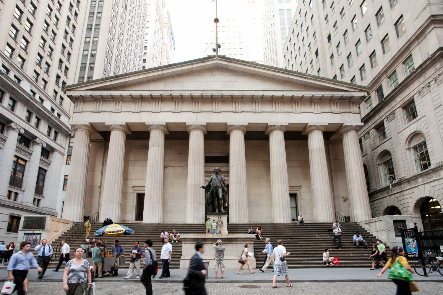 Exterior of Federal Hall on Wall Street