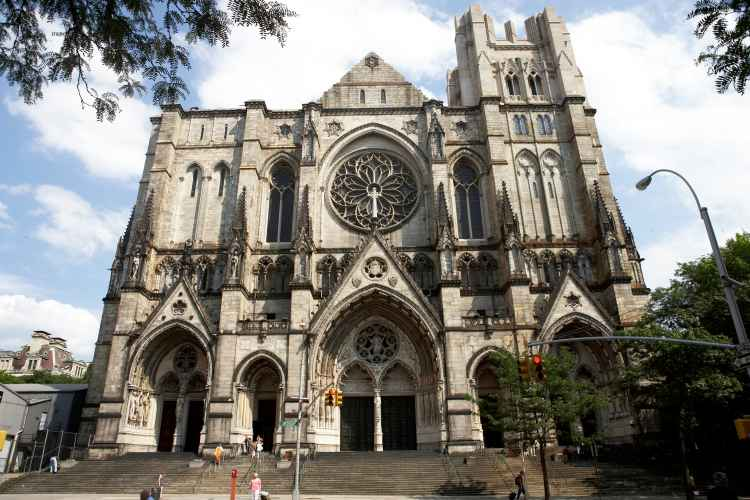 Exterior of Cathedral Church of St.John the Divine in Manhattan