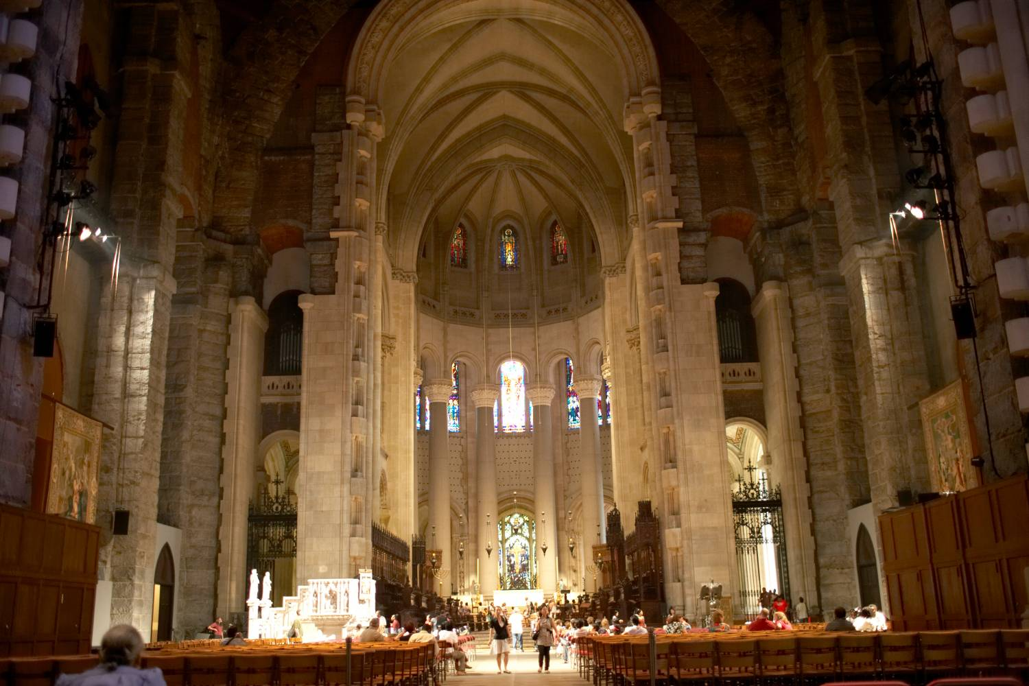 Interior of Cathedral Church of St.John the Divine in Manhattan