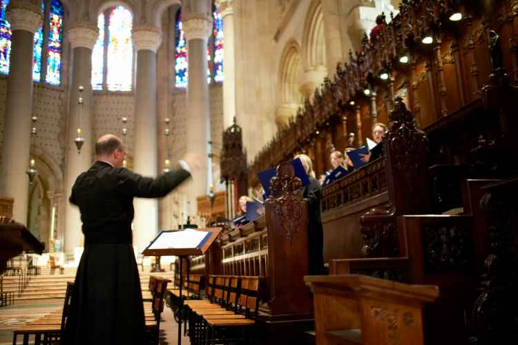 Priest at Cathedral Church of St.John the Divine in Manhattan