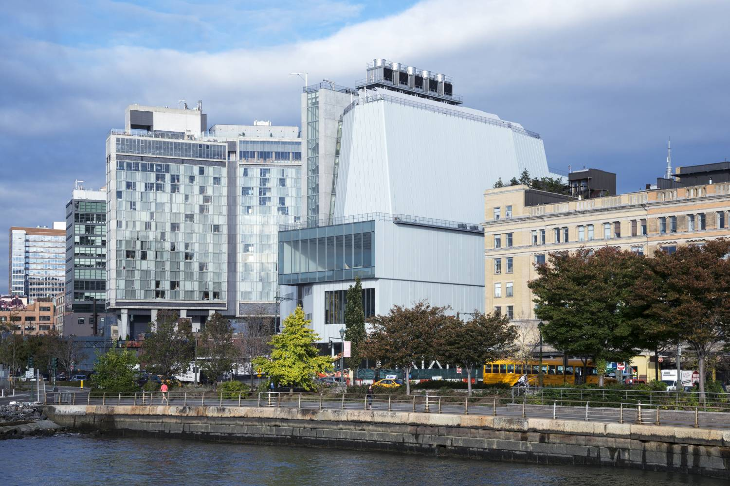Whitney Museum exterior, day