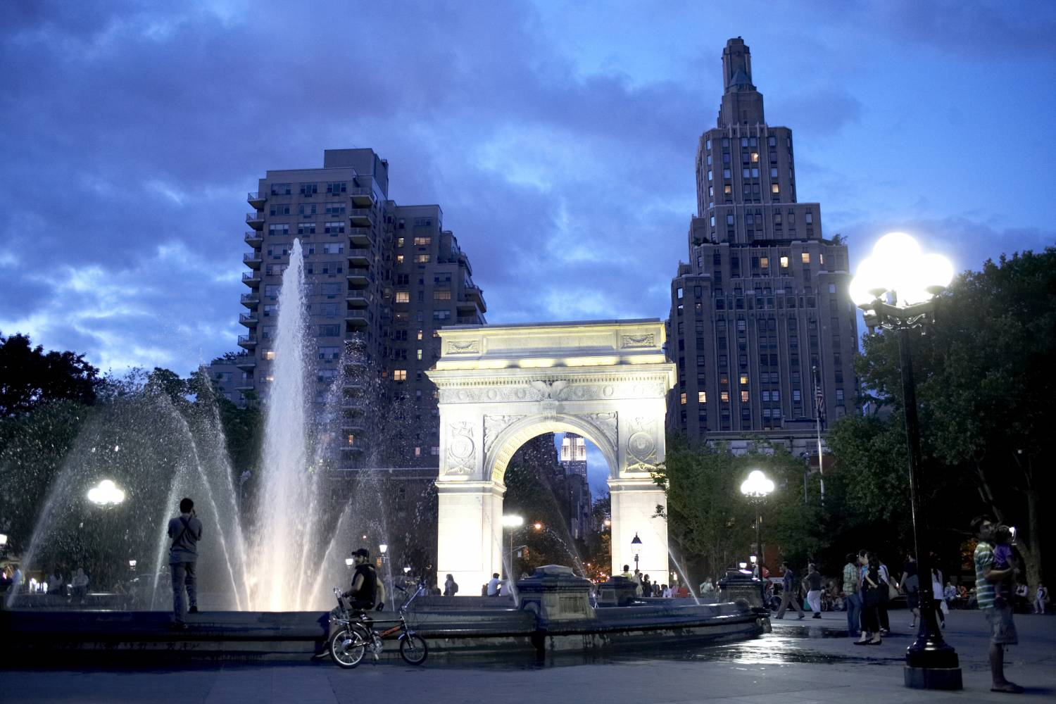 Washington Square Park, dusk
