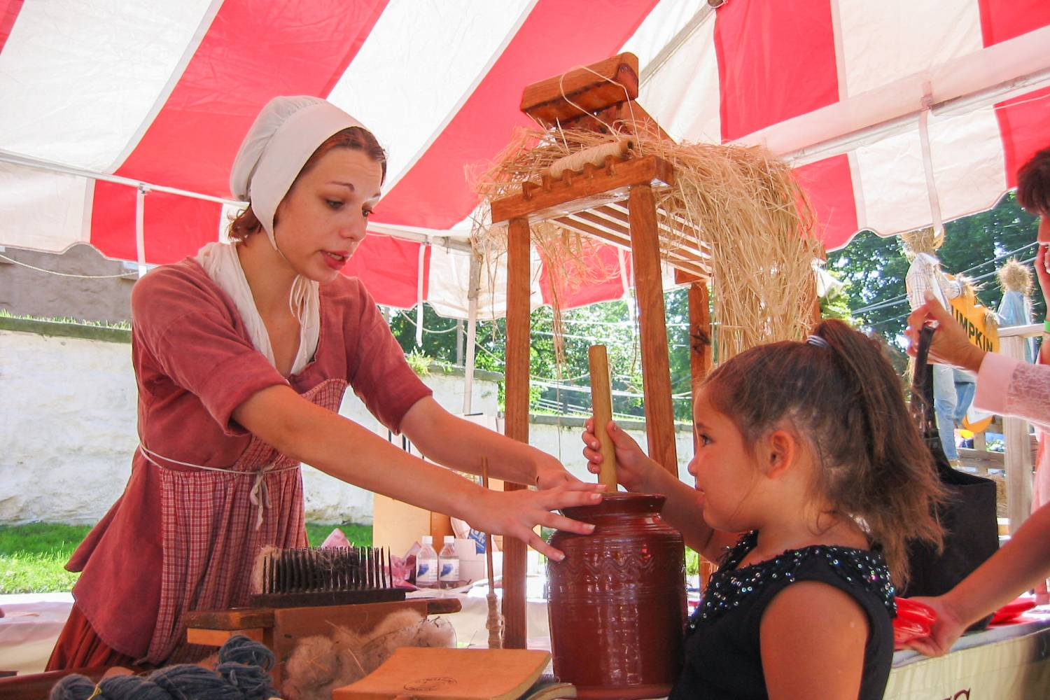 Butter Churning at Historic Richmond Town
