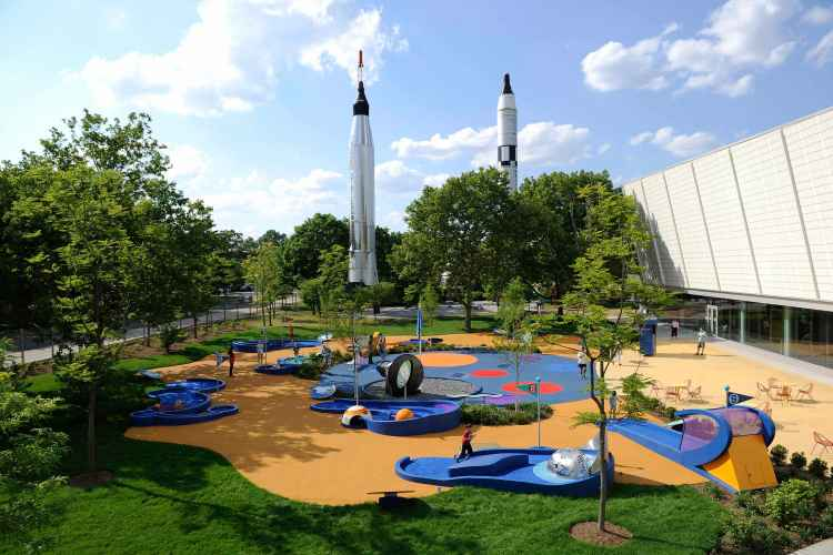 Rocket Park at the New York Hall of Science