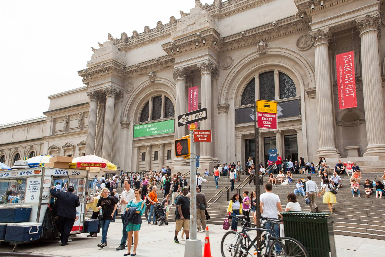 Exterior of the Metropolitan Museum of Art located on the Museum Mile