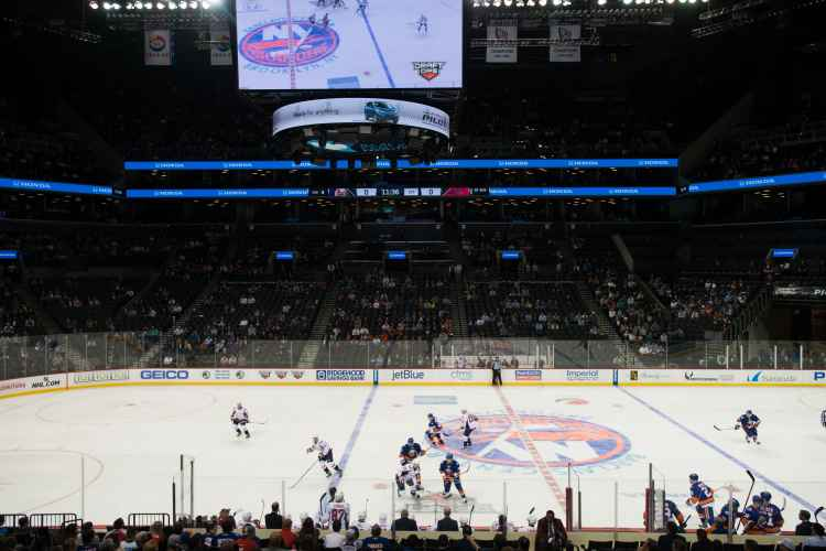 New York Islanders playing at the Barclays Center