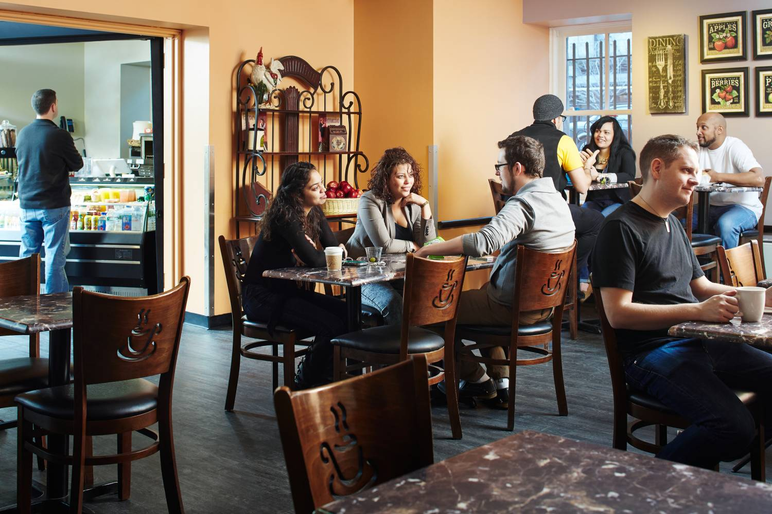 The cafe at the Hostelling International New York