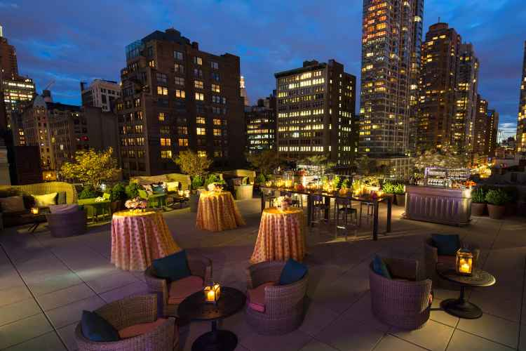 outdoor bar at Eventi, A Kimpton Hotel