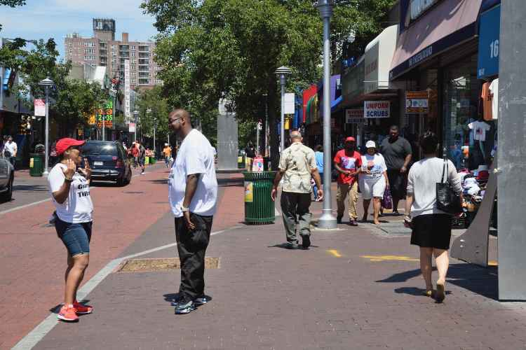 165th Street Pedestrian Mall in Jamaica Queens