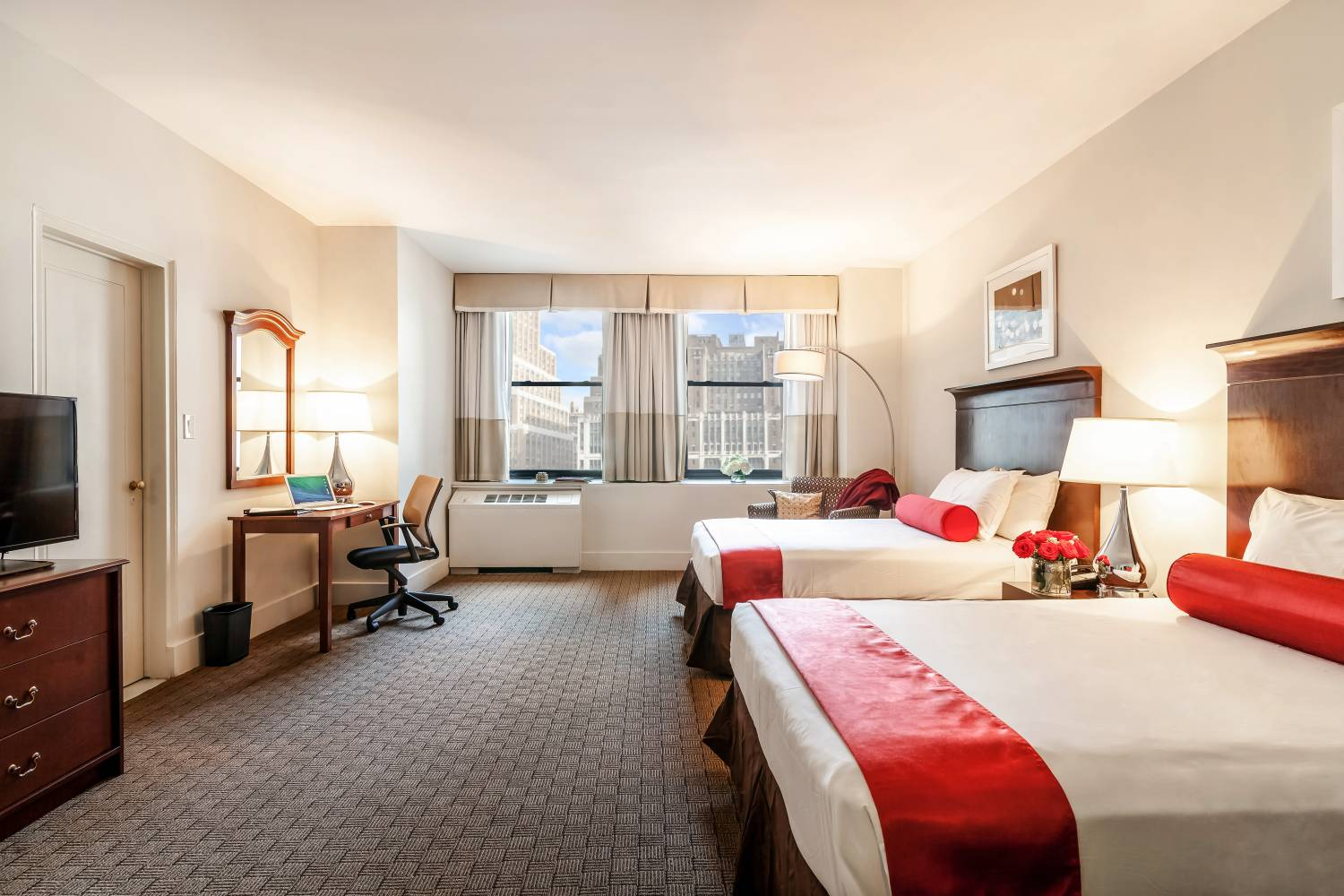 double queen guest room at New Yorks Hotel Pennsylvania