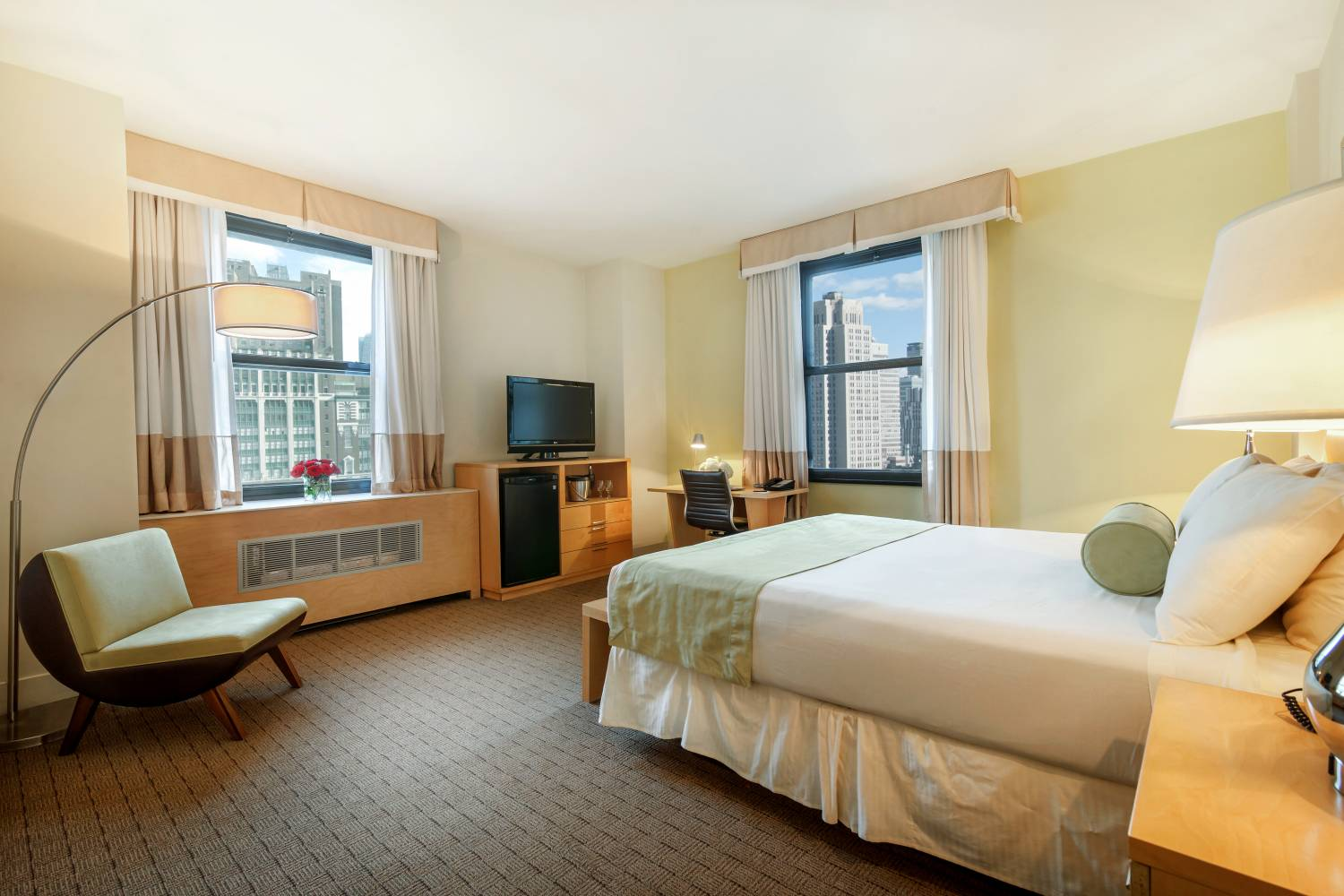 single guest room at New Yorks Hotel Pennsylvania