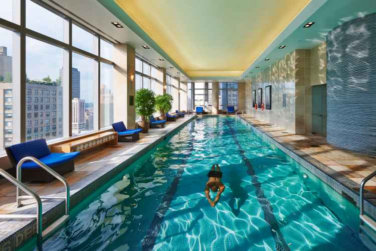 spa and pool inside Mandarin Oriental, New York