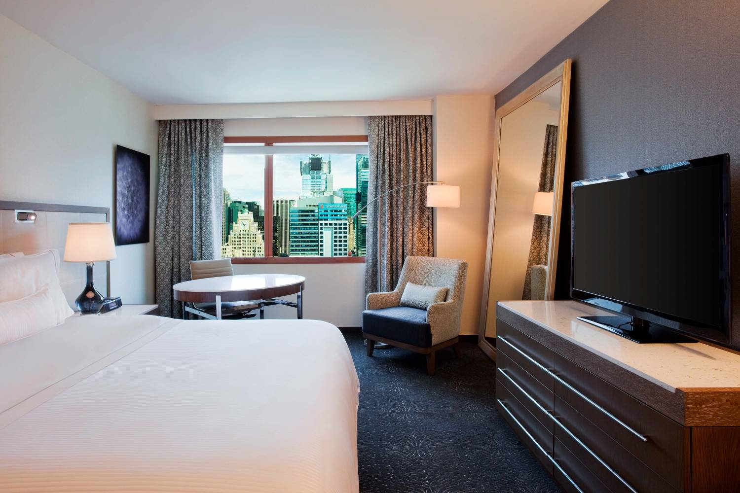 Westin new york at times square deluxe king room day