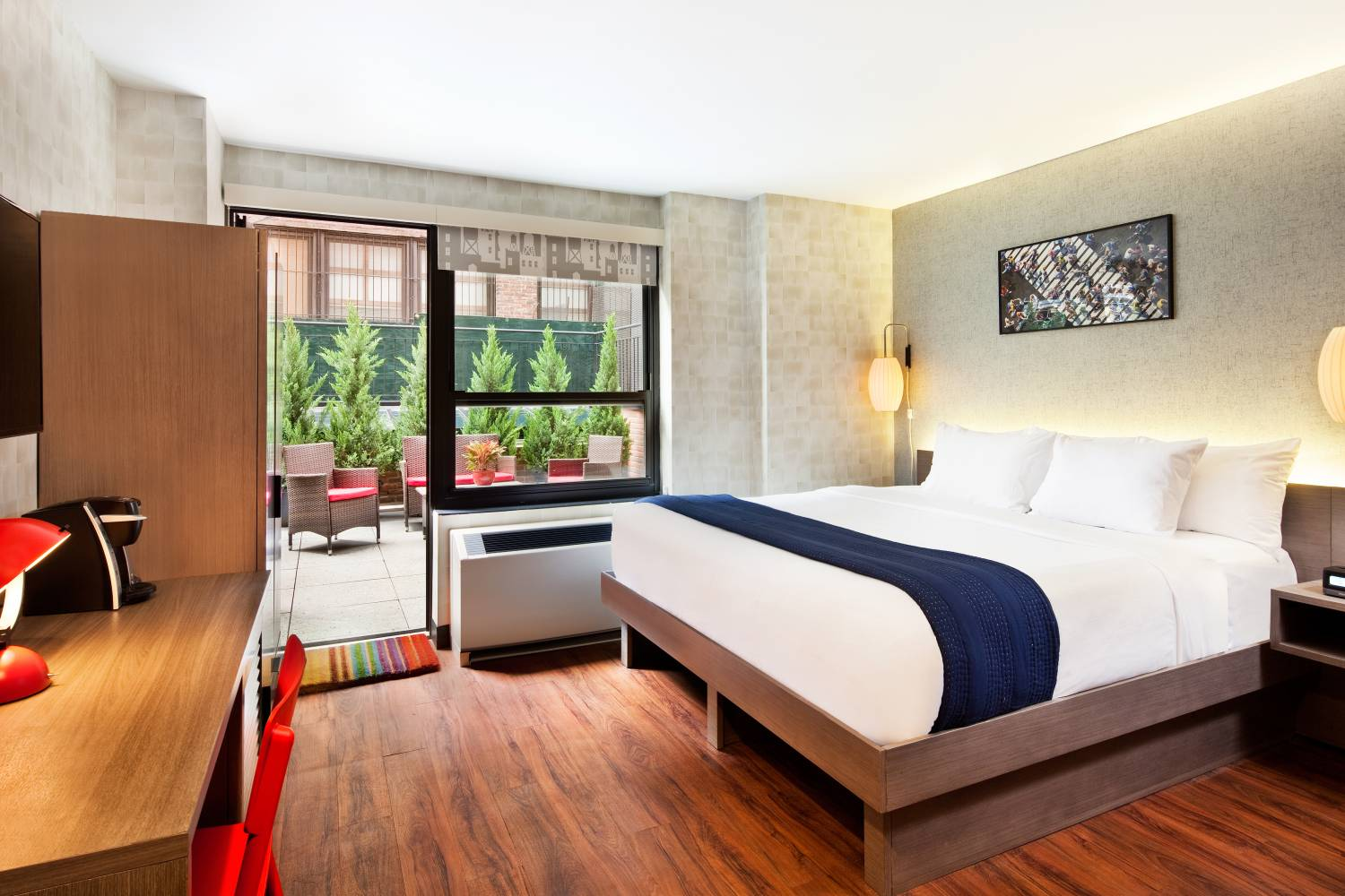 king guest room with terrace at The Paul