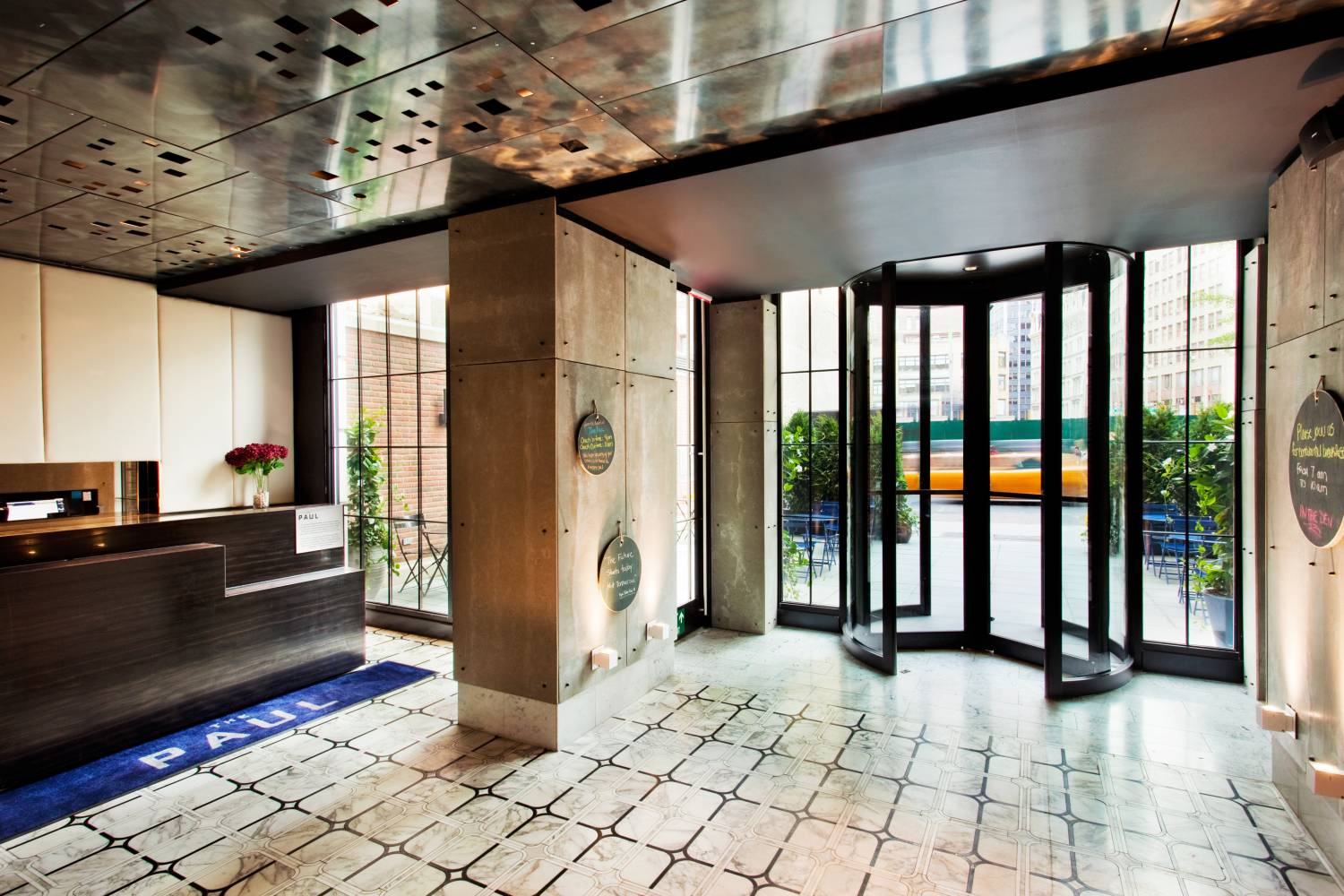 lobby and front desk at The Paul