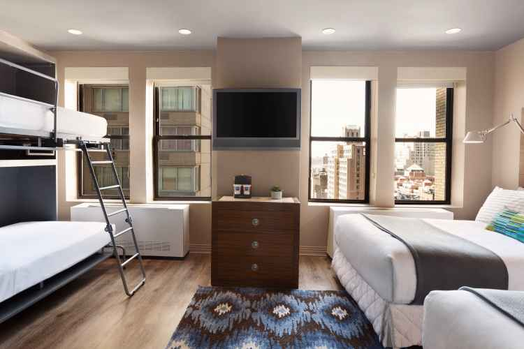 family bedroom at Tryp New York Times Square Hotel
