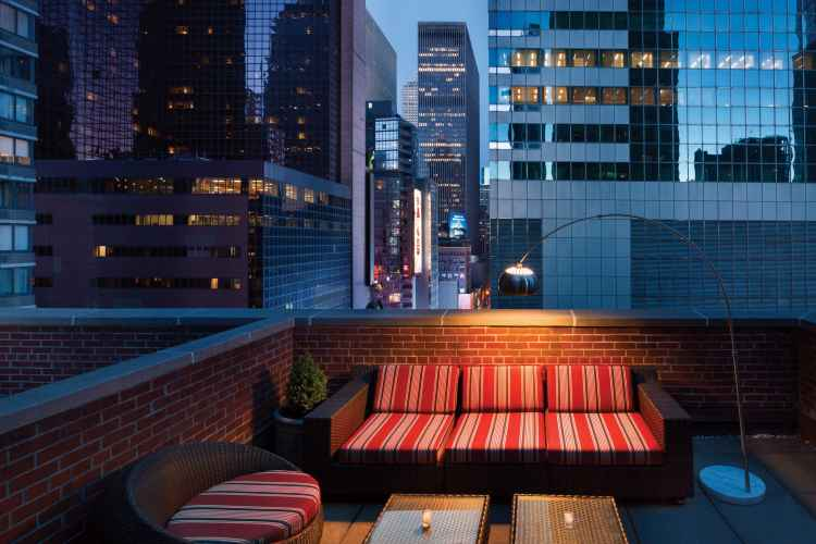 rooftop at Tryp New York Times Square Hotel
