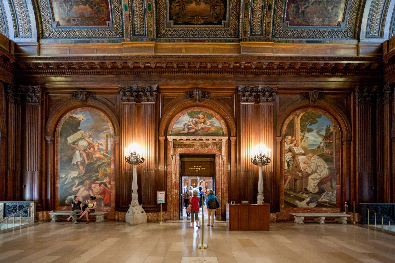 New York Public Library Steven A. Schwarzman Building interior