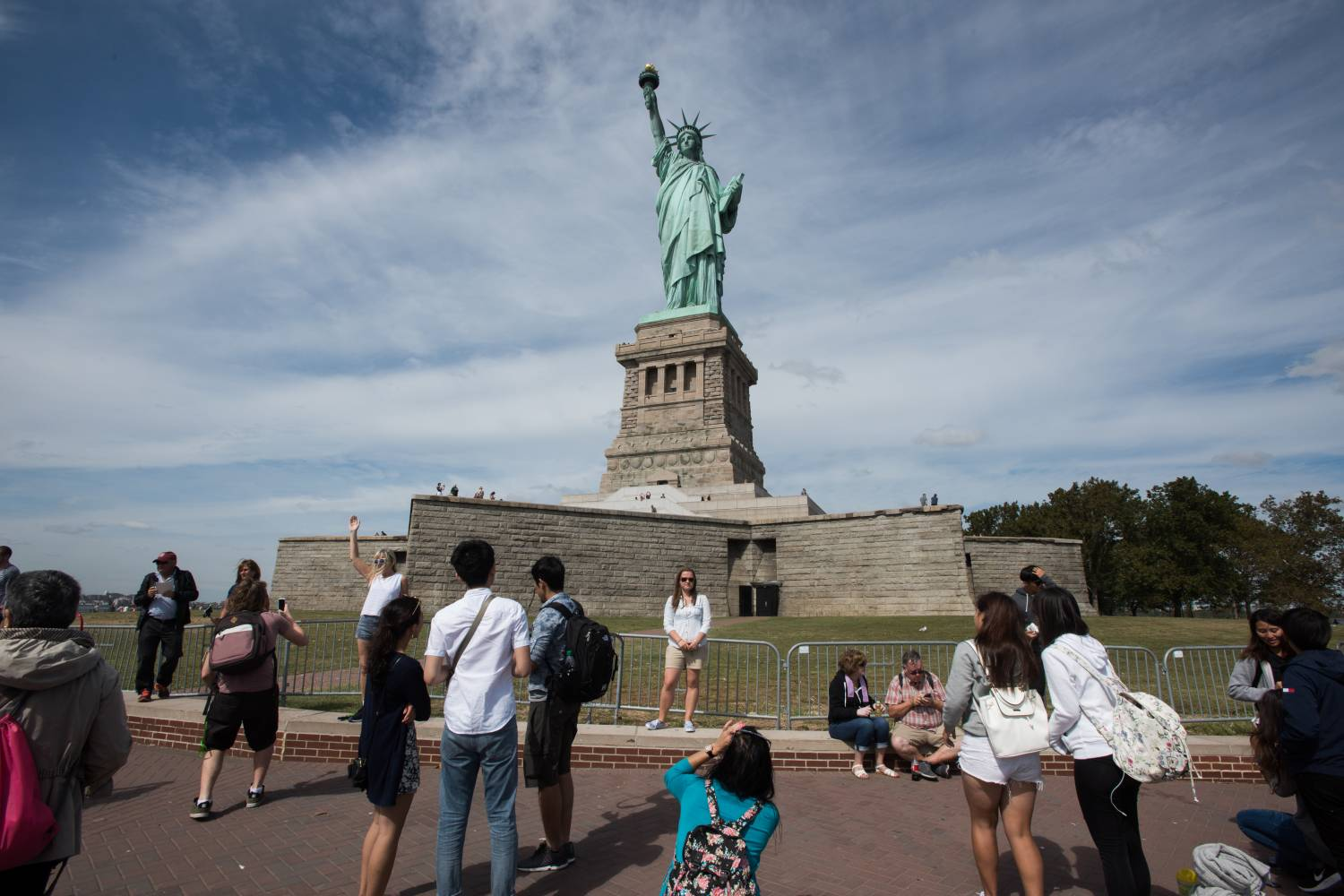 Statue of Liberty, tourists
