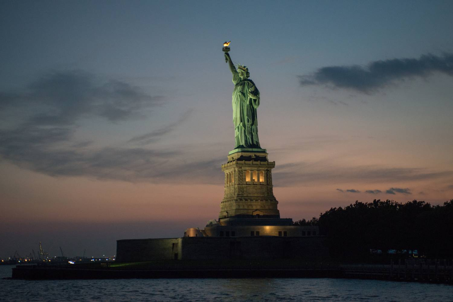 Statue of Liberty, night