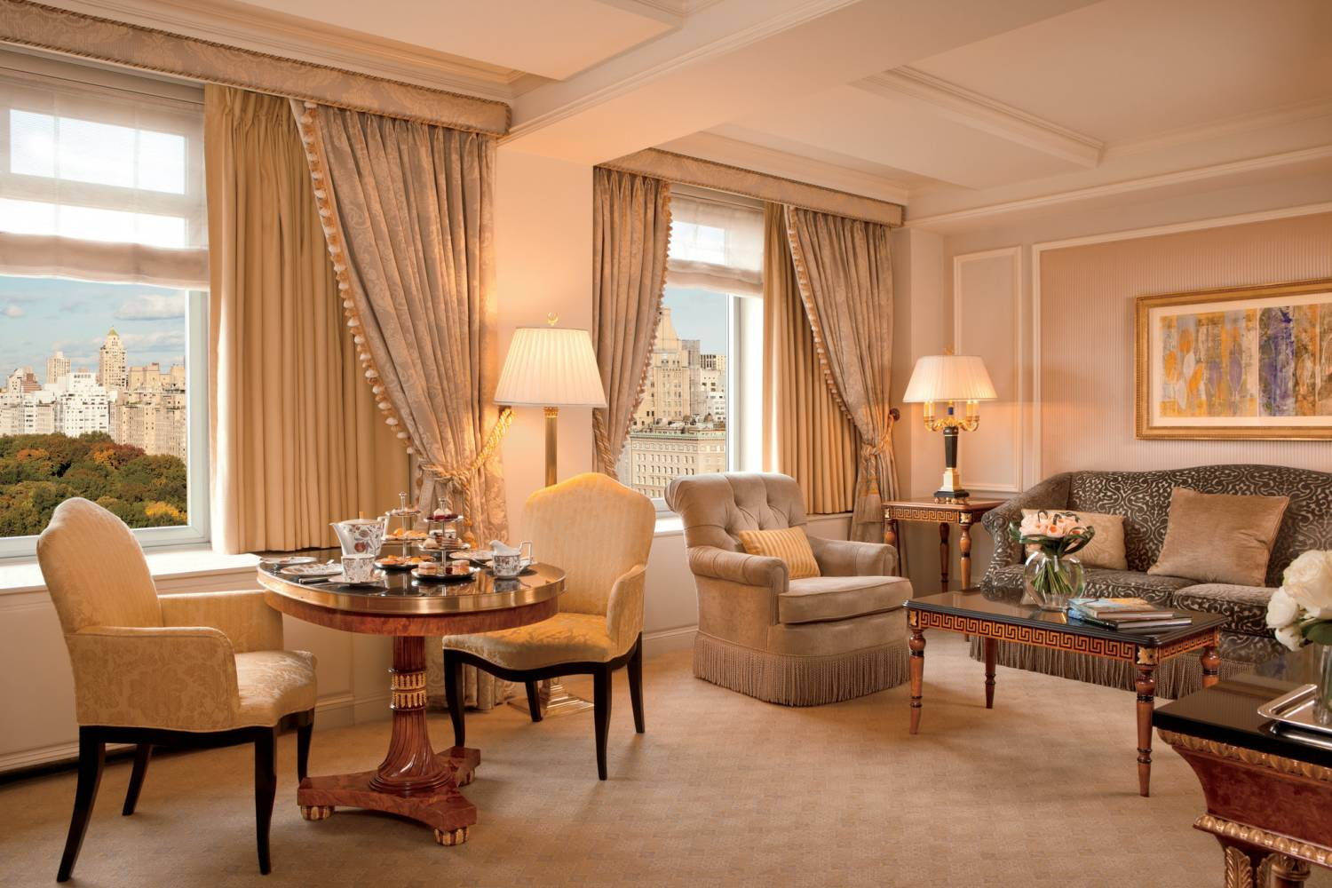 deluxe park view suite at The Ritz-Carlton New York, Central Park