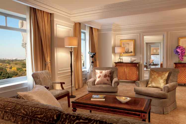central park presidential suite living room at The Ritz-Carlton New York, Central Park