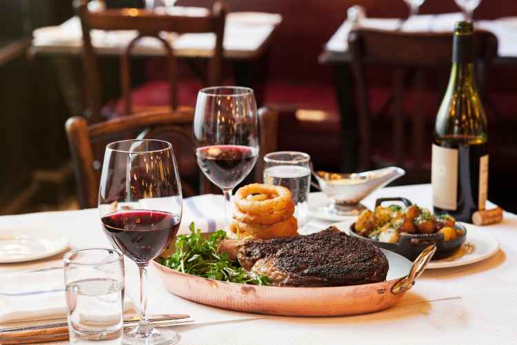 boeuf--side-of-roasted-potatoes at the hip and trendy Balthazar Restaurant