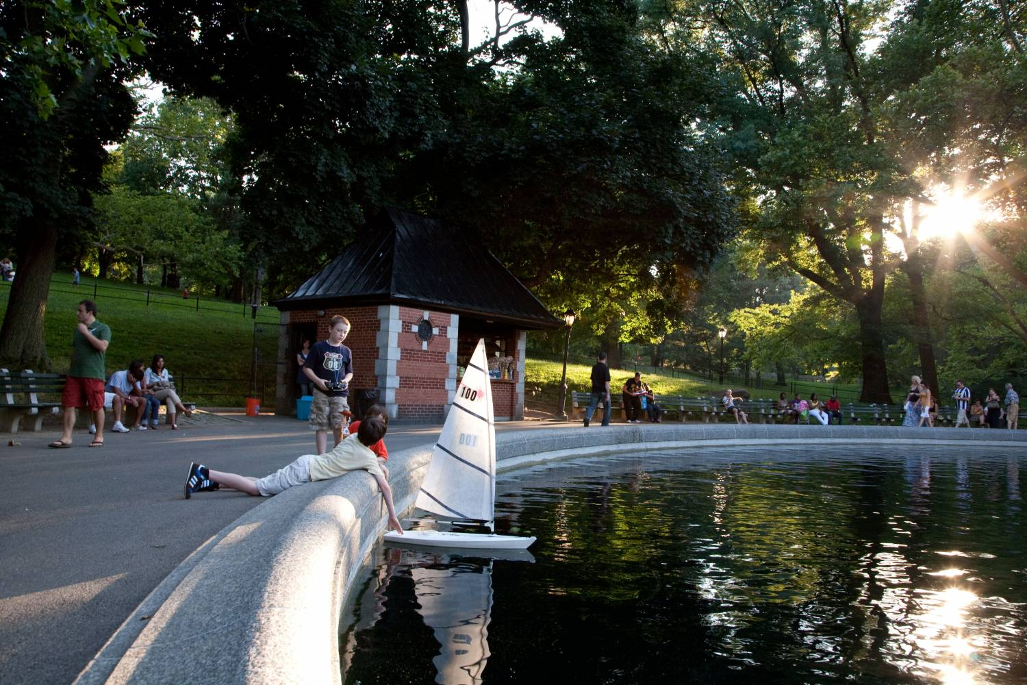 Central Park, toy boats