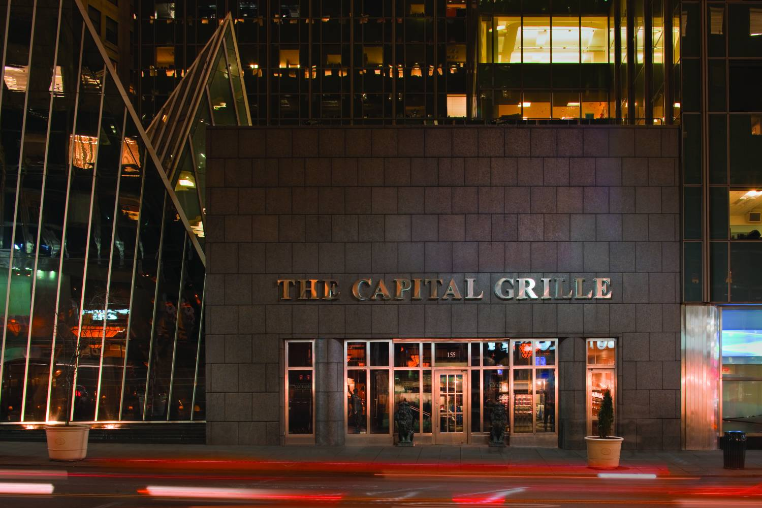 The Capital Grille Chrysler Center, exterior
