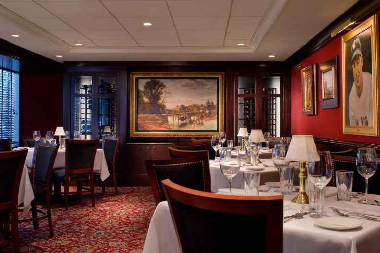 wine room interior at The Capital Grille Time Life