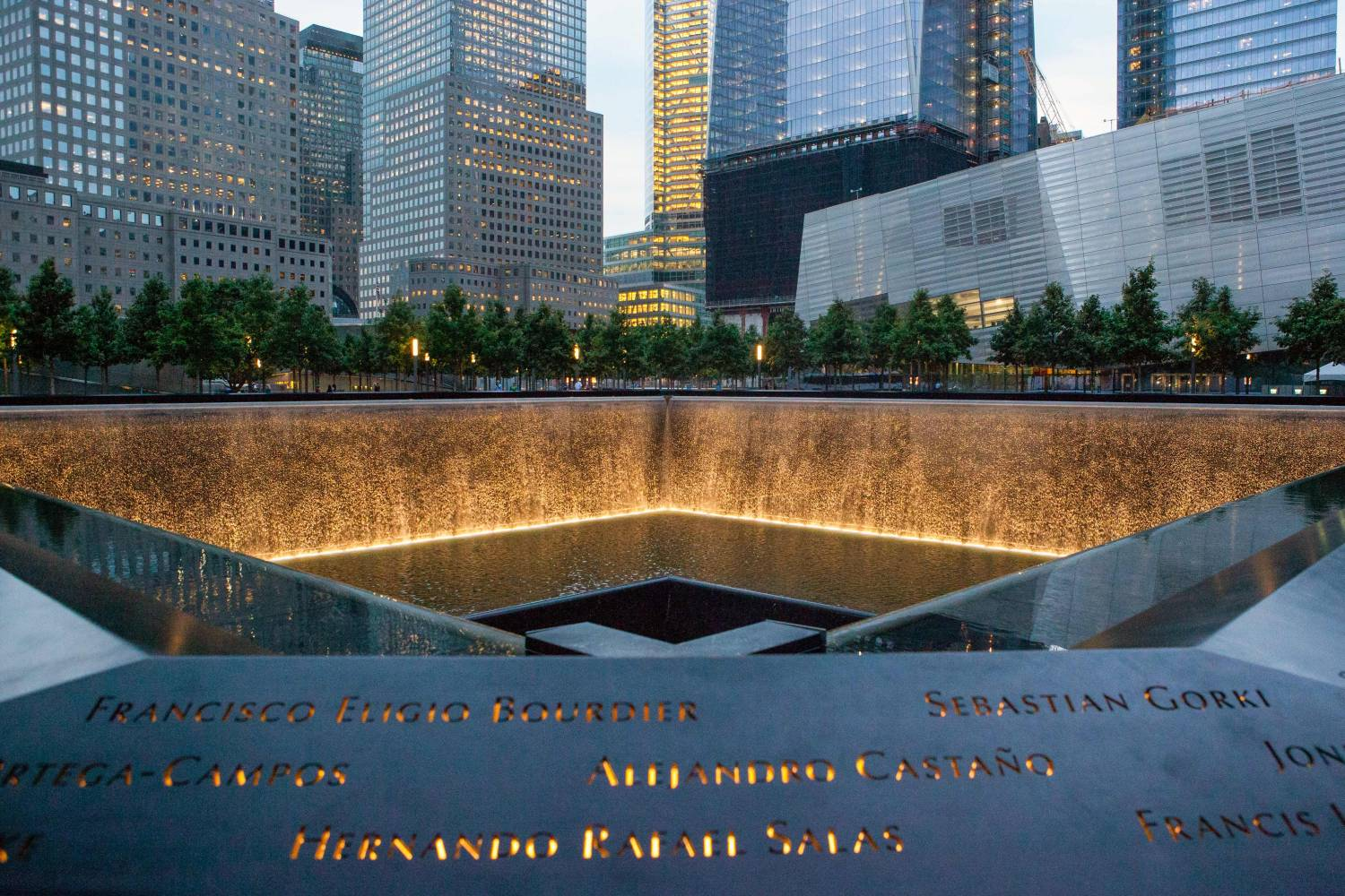 Image result for photos of 9/11 memorial