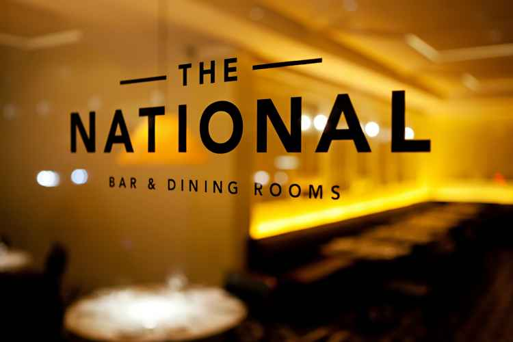 The National Bar and Dining Rooms, window