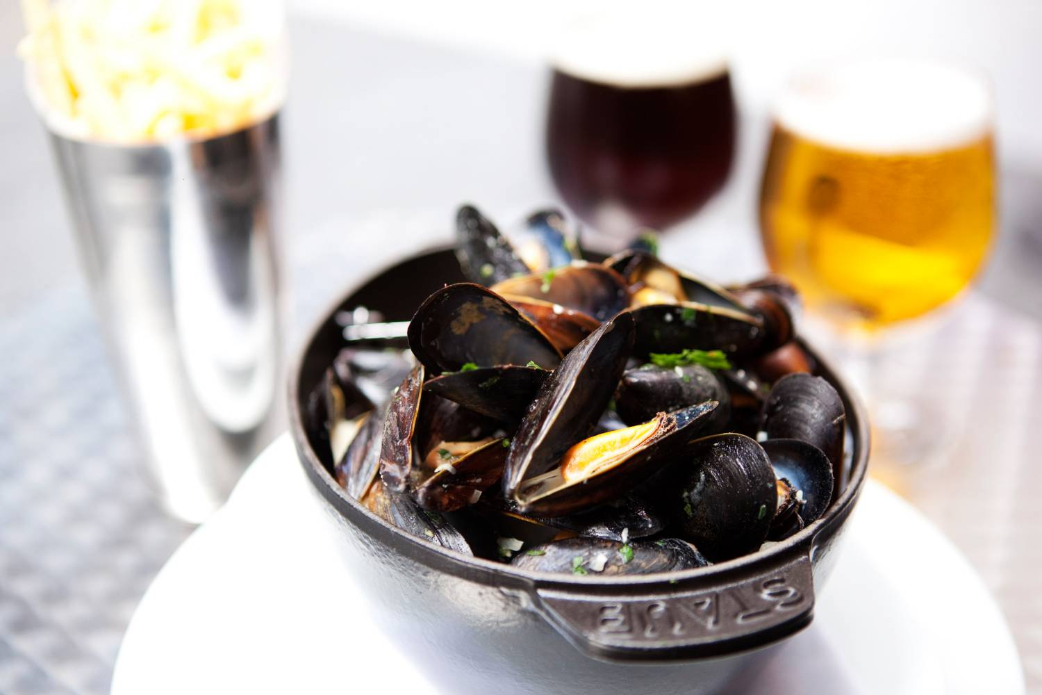 moules-frites at The Beer Bar